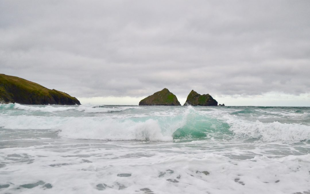Dramatic morning at Holywell Bay