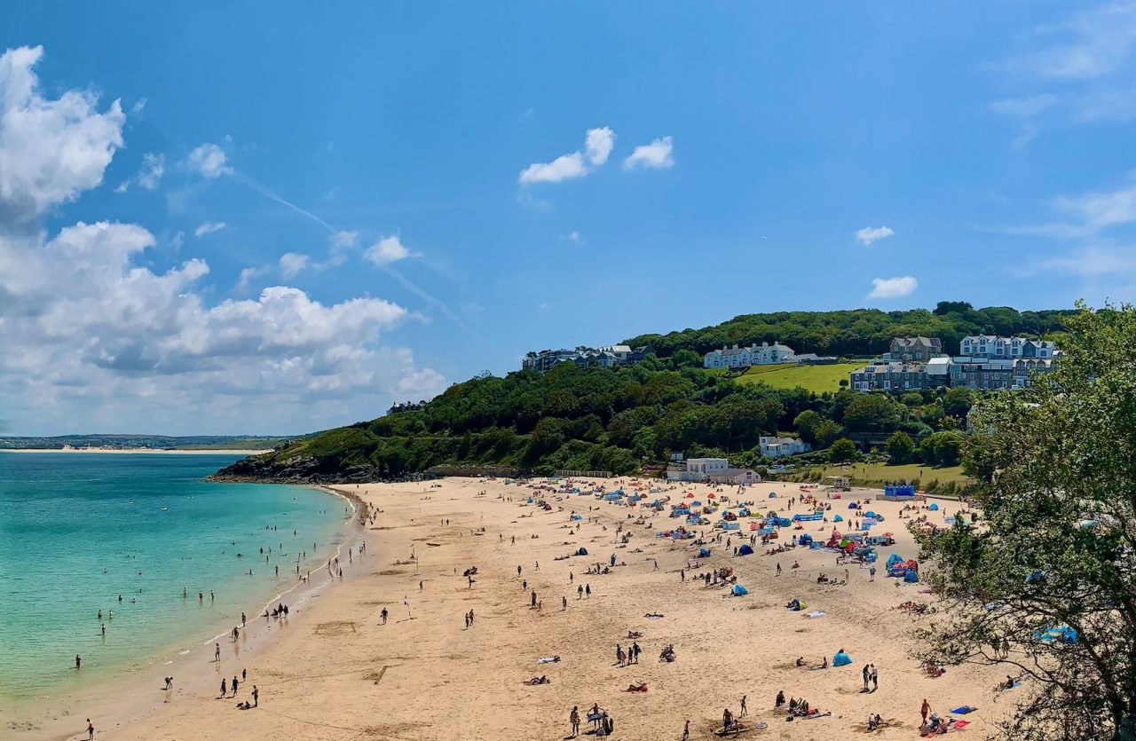 Porthminster Beach - Free Maps of Cornwall